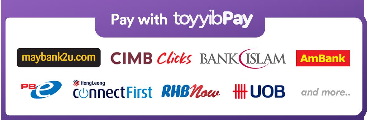 [toyyibPay Billplz payment gateway]100% Secure Online Banking FPX Payment (Barang sampai 1-3 hari)